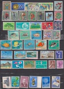 Japan Ryukyu Collection. 68 stamps 44 MNH/OG, 11 MLH/OG, 12 Used, 1 TB