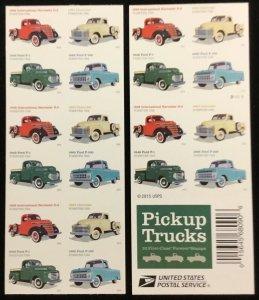 5101-5104   Pickup Trucks    MNH  Forever d/s  pane of 20   FV $11.00    In 2016