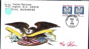 Pugh Designed/Painted Official Coil FDC...97th of 98 Created!