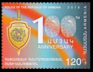 2018 Armenia 1077 100 years since the founding of the Armenian police