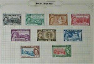 Montserrat - Part 1953 QE II Definitive Set up to 24c - Mint