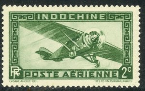 INDO-CHINA 1933-41 2c AIRPLANE Airmail Sc C2 MH