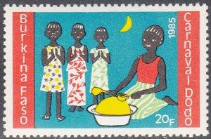 Burkina Faso 1986 MNH Sc #755 20fr Three children, drummer Dodo Carnival