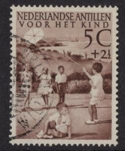 Netherlands Antilles  #B11   used  1951 child welfare 5c