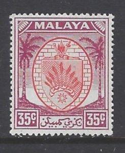 Malaya-Negri Sembilan, Scott #53; 35c Arms, MH