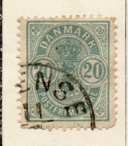 Denmark 1875 Early Issue Fine Used 20ore. NW-113850