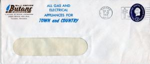 US Scott U534 Stamped Envelope w/Multi-Color Ad for Wm. L. English Butane Co
