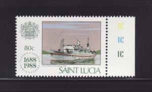 St Lucia 925 MNH Ship, Lady Nelson