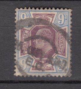 J27551 1902-11 great britain used #136 king $70.00 scv
