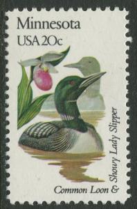 USA - Scott 1975 - State Birds & Flowers - 1982 - MNG - Single 20c Stamp