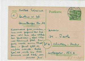 Berlin 1949 Berlin W Cancel Stamps Card  Ref 25890