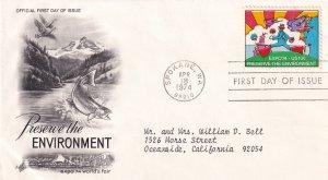 1974, Preserve the Environment, Art Craft, FDC (E11785)