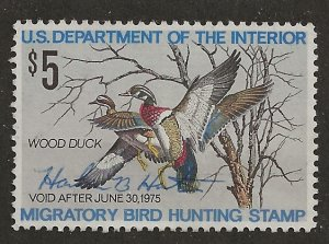 RW 41 FEDERAL DUCK STAMP Used VF from year 1974