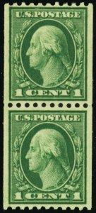 448, Mint XF NH 1¢ Coil Pair Very Well Centered GEM - Stuart Katz