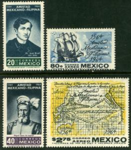 MEXICO 956-57,C300-301 400Yrs of Mex-Philippine Relation MNH