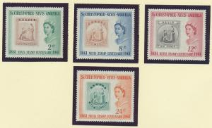 St. Kitts-Nevis Scott #139 To 142, Mint Never Hinged MNH, Centenary of First ...