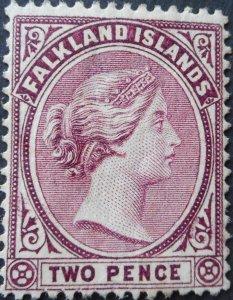 Falkland Islands 1895 QV 2d SG 25 u/mint