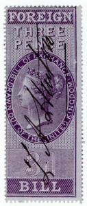 (I.B) QV Revenue : Foreign Bill 3d (1854)