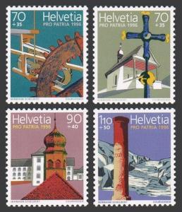 Switzerland B613-B616,B615a,MNH.Mi 1577-1580. Magdalena Chapel,Wolfenschiessen;