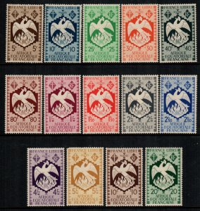 French equatorial africa  142 - 155   MNH cat $  11.00