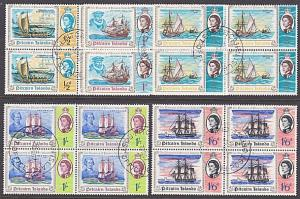 PITCAIRN 1967 Discovery set blocks of 4 fine used...........................3129
