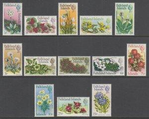 Falkland Islands Sc 210-222 MNH. 1972 Flowers, complete set, VF