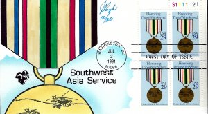 Rare Pugh Designed/Painted Southwest Asia Service FDC...12 of ONLY 20 created!