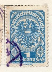 Austria 1919 Early Issue Fine Used 1K. 093191