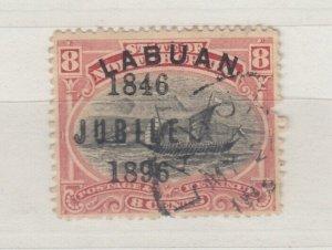 Labuan 1896 8c Jubilee O/P SG88 Fine Used J7556