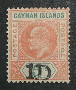 MOMEN: CAYMAN ISLANDS SG #19 MINT OG H LOT #198624-6112