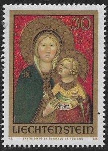 LIECHTENSTEIN 1973 CHRISTMAS Issue Sc 542 MNH
