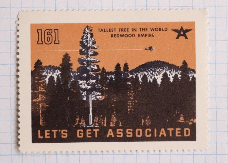 Flying A Tydol gas oil co World Tallest Tree Redwood 161 associated ad poster