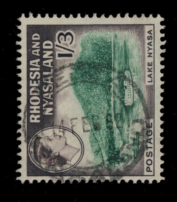 RHODESIA & NYASALAND - 1962 - DEDZA DOUBLE CIRCLE DATE STAMP ON SG26 1s3d