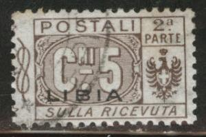 LIBYA Scott Q1 parcel post half used