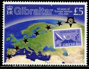 GIBRALTAR Sc#1026 2005 Europa Stamps Anniversary Complete Set OG Mint NH