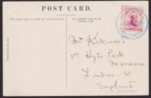 NEW ZEALAND 1905 postcard NZ MARINE PO / RMS SIERRA cds in blue.............5251