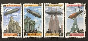 Bulgaria 2000 #4147-50 S/S, Zeppelin Airships, Used/CTO.