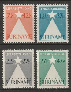 Suriname 1947 Sc B47-8,CB4-5 set MLH