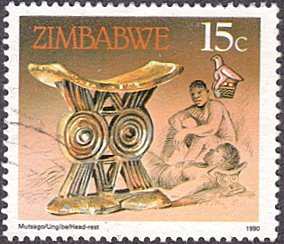 Zimbabwe # 620 used ~ 15¢ Head Rest