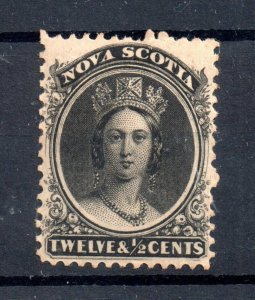 Nova Scotia QV 1860 12 1/2c yellow paper SG17 mint MH WS19047