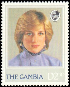 Gambia #447-450, Complete Set(4), 1982, Royality, Never Hinged