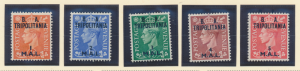 Great Britain, Offices In Africa, Tripolitania Stamp Scott #27-31, Mint Hinge...