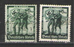 Germany - Third Reich 1938 Sc# 484-485 Used VG - Anschluss issues
