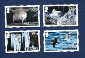 SOUTH GEORGIA - # 430-433 - MNH -  Bird paintings by John Gale - 2011