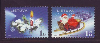 Lithuania Sc 801-2  2005 Christmas stamp  set mint NH