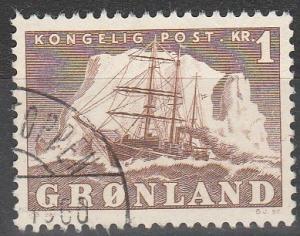 Greenland #36 F-VF Used CV $3.25 (S4476)