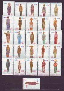J22787 JLstamps 1974 indonesia set of 26 mnh #863-888 costumes see details