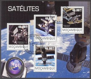 Mozambique 2014 Space Satellites Sheet Used / CTO