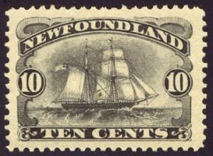 HALF-CAT BRITISH SALE: NEWFOUNDLAND #59 Mint