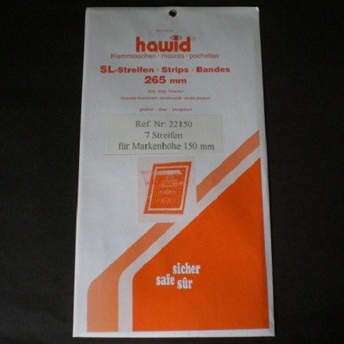 Hawid Stamp Mounts Size 150/265 CLEAR Background Pack of 7